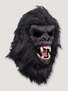 Gorilla Halloween Costume Latex Monkey Mask White or Black
