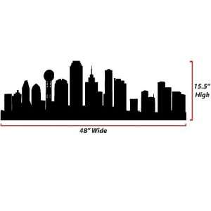 Dallas Skyline Silhouette  Large  Vinyl Wall Decal