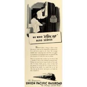1942 Ad Union Pacific Railroad Middle Route World War II