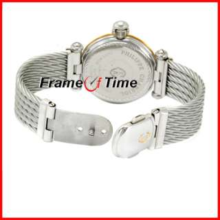 Philippe Charriol Mens Gold/SS Steel Cable Roman Watch