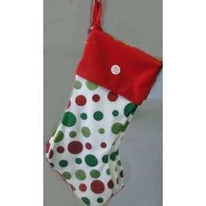 Ganz Christmas EX14219 Polka Dots Stocking