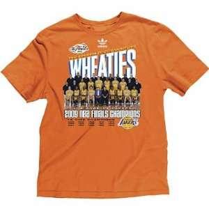 LA Lakers 2009 NBA Champions Wheaties Tee Shirt RARE