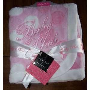Baby Phat Girlz Pink Polka Dot Plush Blanket Baby
