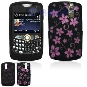 Black with Pink Flowers Design Laser Cut Silicone Skin