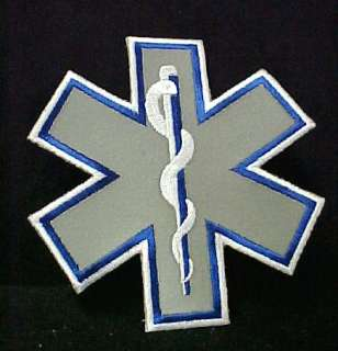 Reflective Star of Life Emblem Patch EMT EMS NWT 7 x7
