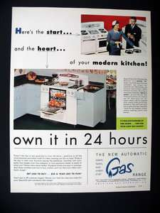 Kitchen Tappan CP Range oven stove 1952 print Ad advertisement