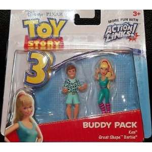 Toy Story 3 Action Links Buddy Pack   Great Shape Barbie