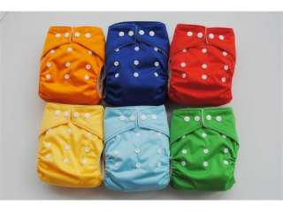 New 10 iCute One Size Cloth Diapers with 10 inserts