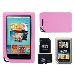 SKQUE PREMIUM PINK SILICONE CASE+8GB MICRO SD MEMORY CARD