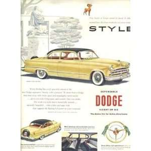 1953 Dodge Coronet V 8 Club Coupe Magazine Ad: Everything