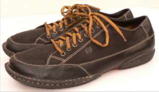 BORN Mens 13 47.5 BLACK Lace Up Oxford Grippers Comfort Shoes