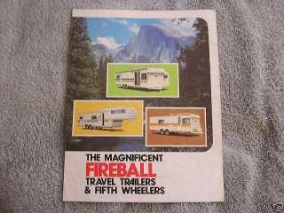 Vintage Fireball Travel Trailer Brochure