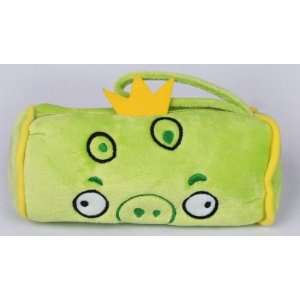 New Green Pig Angry Birds Soft Plush Pencil Case Bag