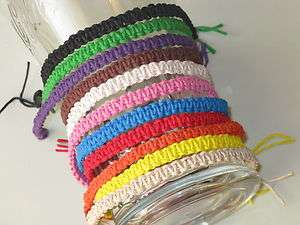 Hemp Friendship surfer Handmade bracelet or Anklet Size/Color