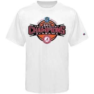 Champion Alabama Crimson Tide White 2010 SEC Basketball