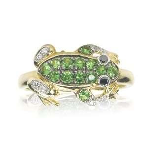 Effy Jewelers Green Tsavorite & Diamond Frog Ring in 14k Yellow Gold 0