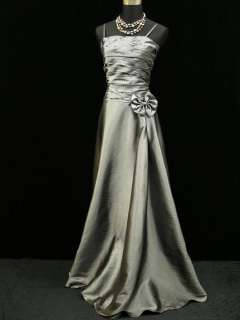 Grey Long Prom Ball Gown Wedding/Evening Dress UK Size 16 18