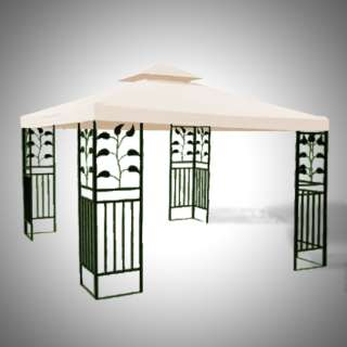 New 10 x 10 Replacement Gazebo Canopy Top Cover Patio 2 Tier Tent