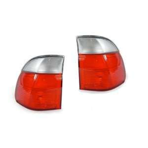 1997 2000 BMW E39 5 Series Wagon Red/Clear Tail Light 2
