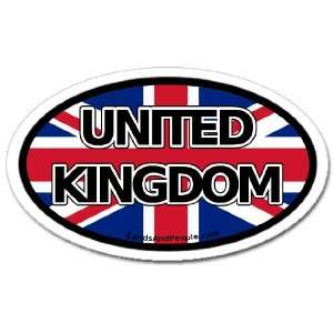 United Kingdom and British Flag Car Bumper Sticker Oval
