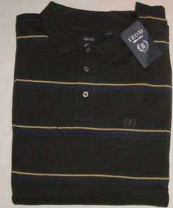 IZOD BIG & TALL LONG SLEEVE PIQUE POLO GOLF SHIRT XLT