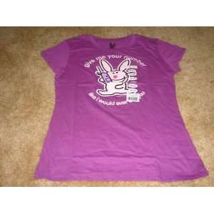 Juniors Womens Tee Shirts Size XXL (19) Bunny, Color