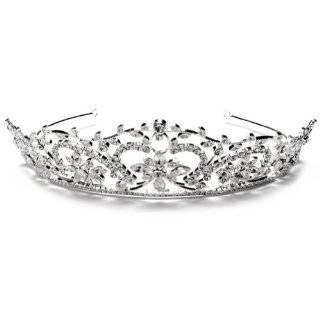 Alyssa Stunning Gold Crystal & Pearl Bridal Tiara Beauty