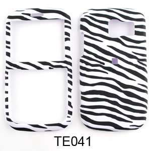 Pantech Link Leather Finish Zebra Print Hard Case/Cover