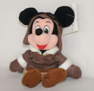 Plush Mickey Mouse NWT Stuffed Animal Toy Aviator Hat Goggles