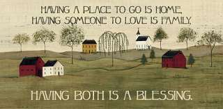 Blessing Saltbox House Dotty Chase Framed Picture Art