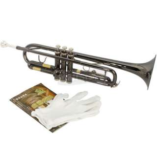 Brand new Bb Trumpet Black Nickel Plating with Mouthpiece High Quality