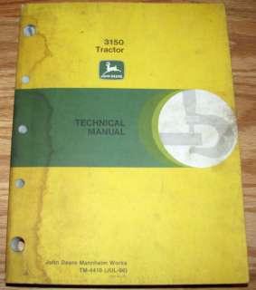 John Deere 3150 Tractor Technical Repair Service Shop Manual jd book