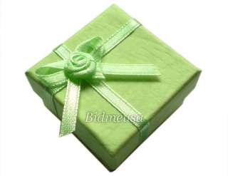 24 Wholesale Lot Green Paper Ring Earring Gift Box Case