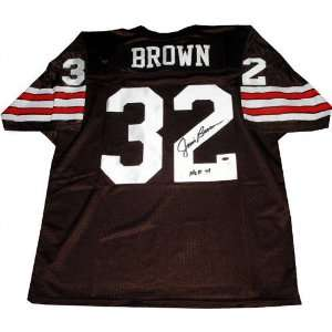 Jim Brown Autographed Pro Style Jersey w/HOF