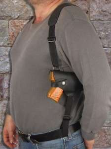 Black Leather Shoulder Holster for GLOCK 19 23 26 27 28