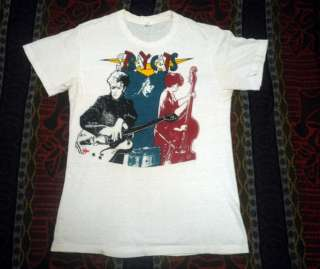 VINTAGE 80s STRAY CATS HANES TSHIRT ROCKABILLY ROCK TOUR CONCERT