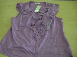 Jones New York Womens Ruffle Shirts L XL different colors NWT