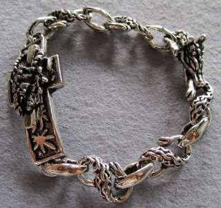 Alloy Metal Dragon Foot Head Beads Bracelet