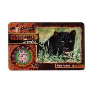 Collectible Phone Card $20. Black Panther   Africa (Panthera Series