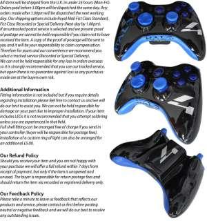 MODDED XBOX 360 HALO 4 WIRELESS CONTROLLER SHELL CASE MOD BLUE BLACK