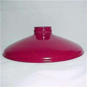 Metal Cone Lamp Light Shade Pendant 2.25 X 10 Red Porcelain Industrial