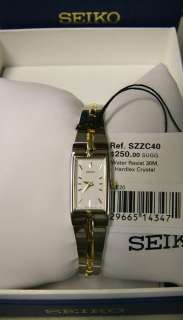 Seiko Womens Dress Two Tone Watch #SZZC40 New