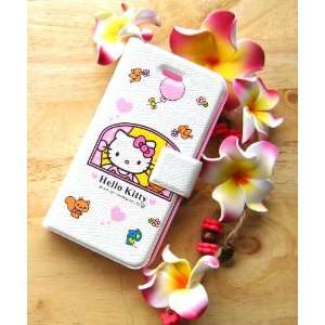 hello kitty window flip leather case for iphone 4 4G with retail box