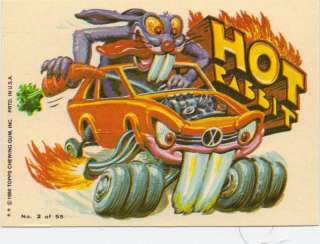 1980 TOPPS WEIRD WHEELS STICKER CARD #2 HOT RABBIT