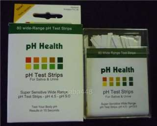 alkaline pH Test Strips for body level Urine & Saliva |