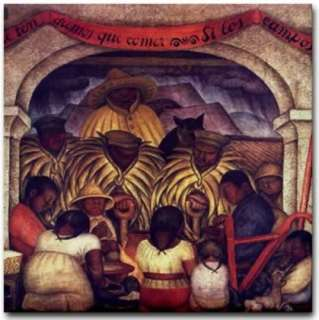 Mexican Artist Diego Rivera Mural Painting Reproduction   Revolution