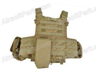 1000D Airsoft US Navy Seals Tactical Molle Vest Tan