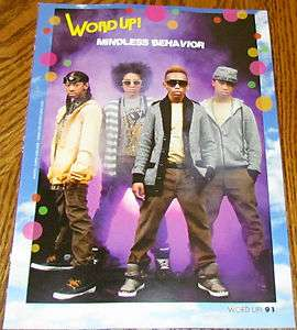 MINDLESS BEHAVIOR GROUP Prodigy Ray Ray Roc Royal Princeton PINUP 8X11