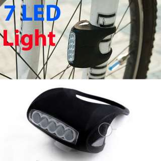 LED Bike Bicycle Silicone Frog Head Front Lamp Warning Rear Light