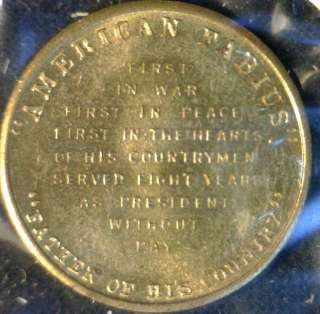George Washington MINT Version #2 Commemorative Bronze Medal   Token